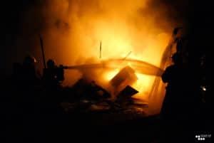 les pompiers en action !