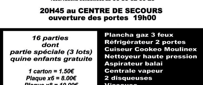 30 MARS 2019 LOTO DES POMPIERS DE SAINT YRIEIX LA PERCHE